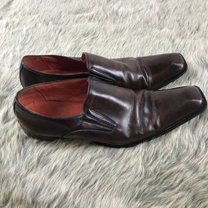 Robert Wayne Shoes - Robert Wayne Phinx Mens Leather Slip On Loafers 12